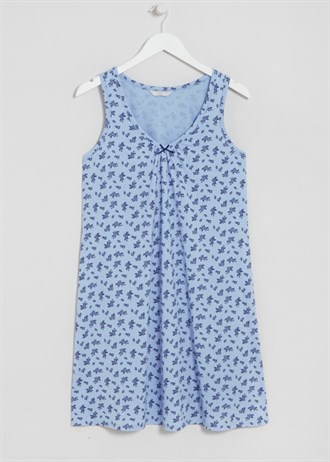 floral-sleeveless-nightie