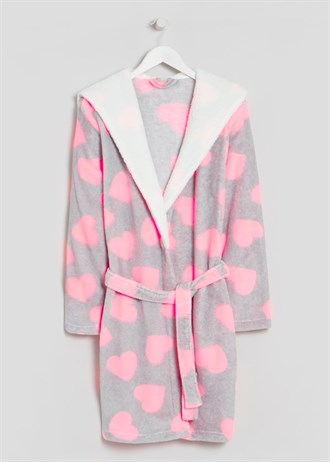 heart-print-fleece-dressing-gown